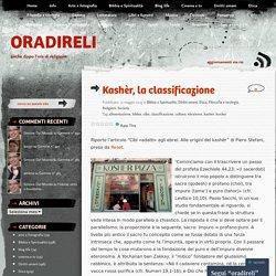 Kashèr, la classificazione