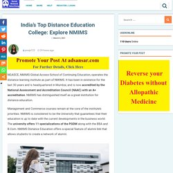 India's Top Distance Education College: Explore NMIMS - Free Classified Advertisement Website India Worldwide