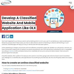 Develop a Classified Website and Mobile Application like OLX