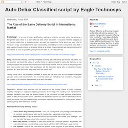Auto Delux Classified script by Eagle Technosys: The Rise of the Same Delivery Script in International Market