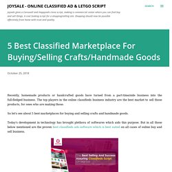 5 Best Classified Marketplace For Buying/Selling Crafts/Handmade Goods