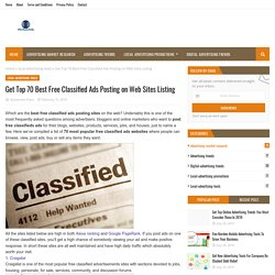 Get Top 70 Best Free Classified Ads Posting on Web Sites Listing