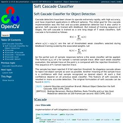 Soft Cascade Classifier — OpenCV 2.4.9