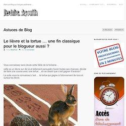 Le lièvre et la tortue ... une fin classique pour le blogueur aussi ?