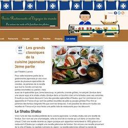 Les grands classiques de la cuisine japonaise 3ème partie