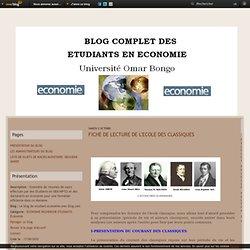 FICHE DE LECTURE DE L'ECOLE DES CLASSIQUES - Le blog de etudiant-economie.over-blog.com