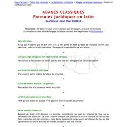 Adages classiques : Formules juridiques en latin