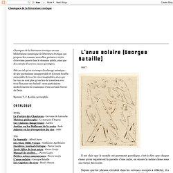 L'anus solaire (Georges Bataille)