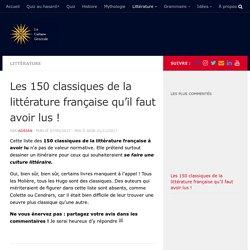 Les 150 classiques de la littérature française à avoir lu !