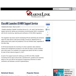 Classnk Launches EU MRV Support Service