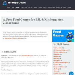 Free classroom food games and activities for children.
