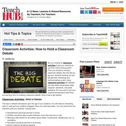 Classroom Activities: How to Hold a Classroom Debate