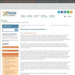 ESL Classroom Activity: Dictation Running
