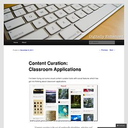 Content Curation: Classroom Applications | Fusion Finds