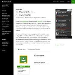 Classroom 01 – attivazione