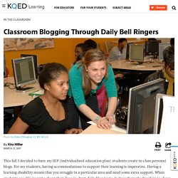 Classroom Blogging Through Daily Bell Ringers
