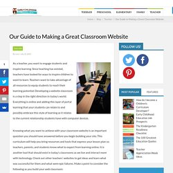 Our Guide to Making a Great Classroom Website - Early Childhood Education Zone