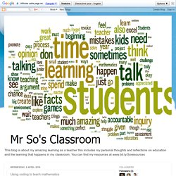Mr So's Classroom: Using coding to teach mathematics