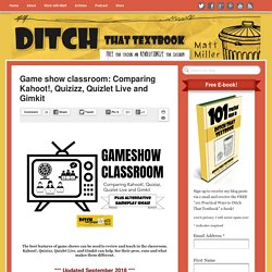 Game show classroom: Comparing Kahoot!, Quizizz, Quizlet Live and Quizalize