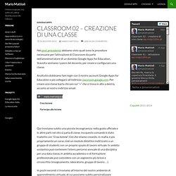 Classroom 02 – creazione di una classe
