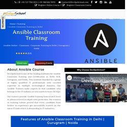 Ansible Classroom Training in Delhi
