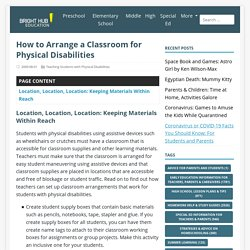 How to Arrange a Classroom for Physical Disabilities - BrightHub Education