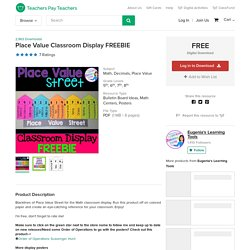 Place Value Classroom Display FREEBIE by Eugenia's Learning Tools