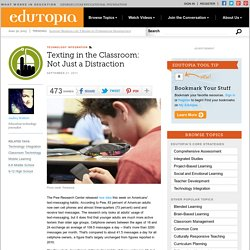Texting in the Classroom: Not Just a Distraction