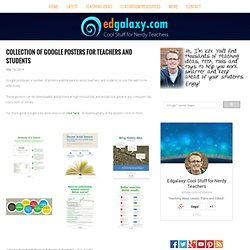 Classroom Posters & Charts — Edgalaxy: Cool Stuff for Nerdy teachers