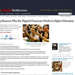 5 Reasons Why the Flipped Classroom Works in Higher Education