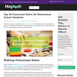 Top 10 Classroom Rules for Elementary School Students