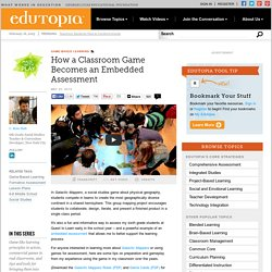 How a Classroom Game Becomes an Embedded Assessment