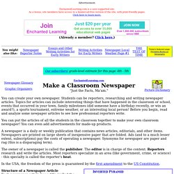 Make a Classroom Newspaper: EnchantedLearning.com