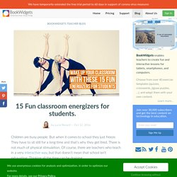 15 Fun classroom energizers for students.