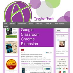 Google Classroom Chrome Extension