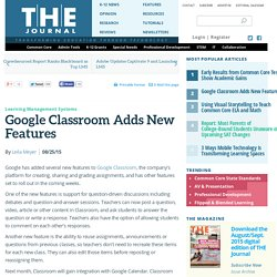 Google Classroom Adds New Features