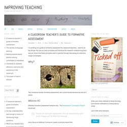A classroom teacher's guide to formative assessment
