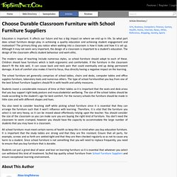 Choose Durable Classroom Furniture with School Furniture Suppliers