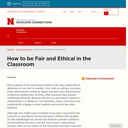 How to be Fair and Ethical in the Classroom