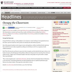 Occupy the Classroom