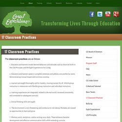 17 Classroom Practices