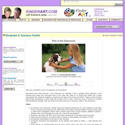 Pets in the Classroom: KinderArt - K12 (For Teachers & Homeschoolers)