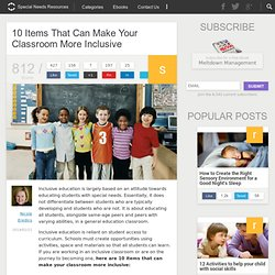 10 Items That Can Make Your Classroom More Inclusive