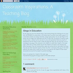 A Teaching Blog: Glogs in Education