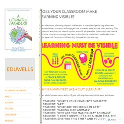 Does your classroom make learning visible? – EDUWELLS