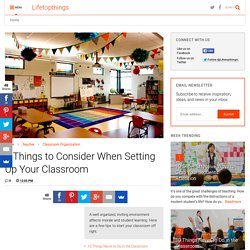 5 Things to Consider When Setting Up Your Classroom