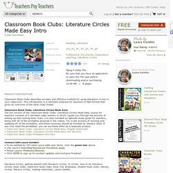 Classroom Book Clubs: Literature Circles Made Easy Intro $ 0