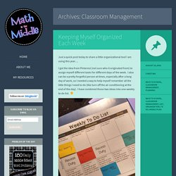 Classroom Management Archives - Math in the Middle