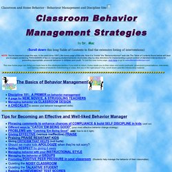 <title>Classroom behavior management and behaviour management