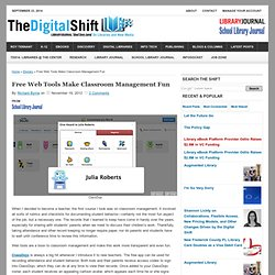 Free Web Tools Make Classroom Management Fun